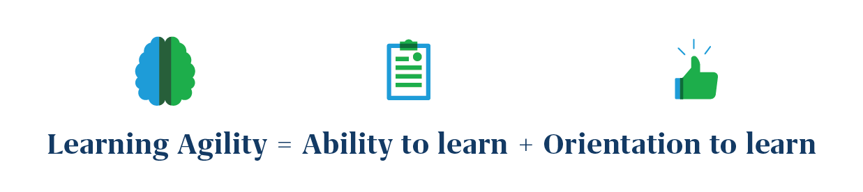 Learning agility = Ability to learn + Orientation to learn