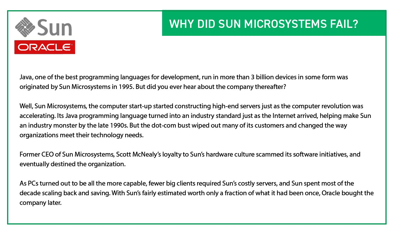 Why did Sun Microsystems Fail? - Organizational Planning