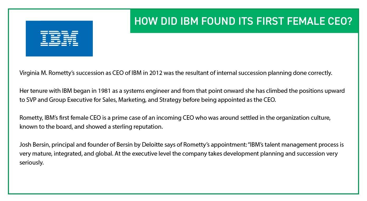 IBM - First Female CEO - Organizational Planning