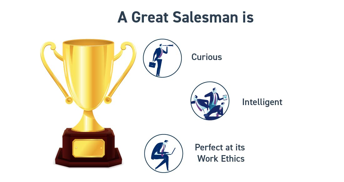 Traits of a superb salesman - Hire core team in a startup