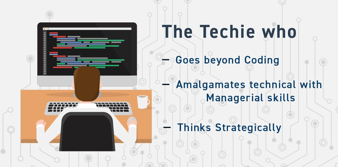 The techie who goes beyond coding. Hire core team in a startup