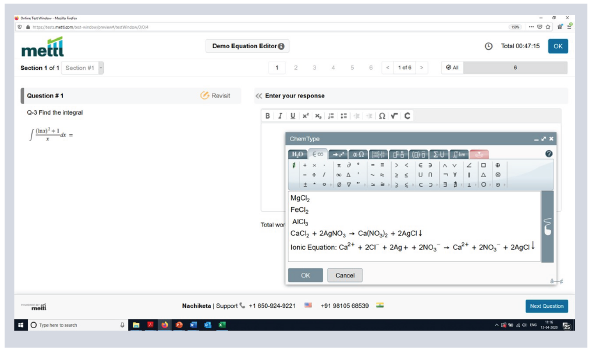 Mercer | Mettl's equation editor for writing simple to complex formulaes