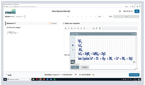 Mercer | Mettl's equation editor for writing complicated equations